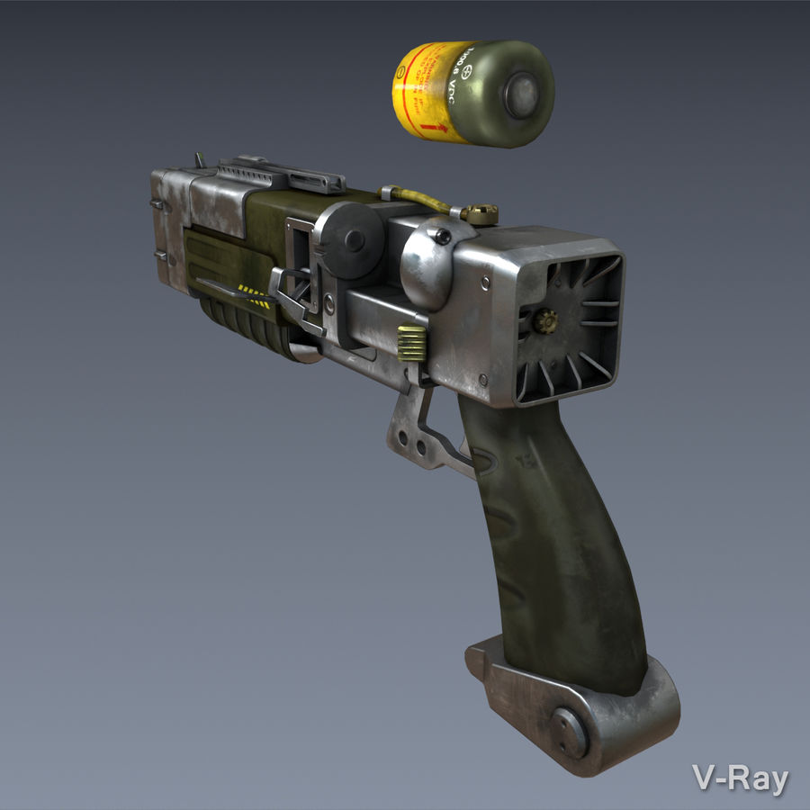 Laser Pistol royalty-free 3d model - Preview no. 5