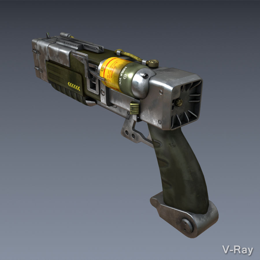 Laser Pistol royalty-free 3d model - Preview no. 3