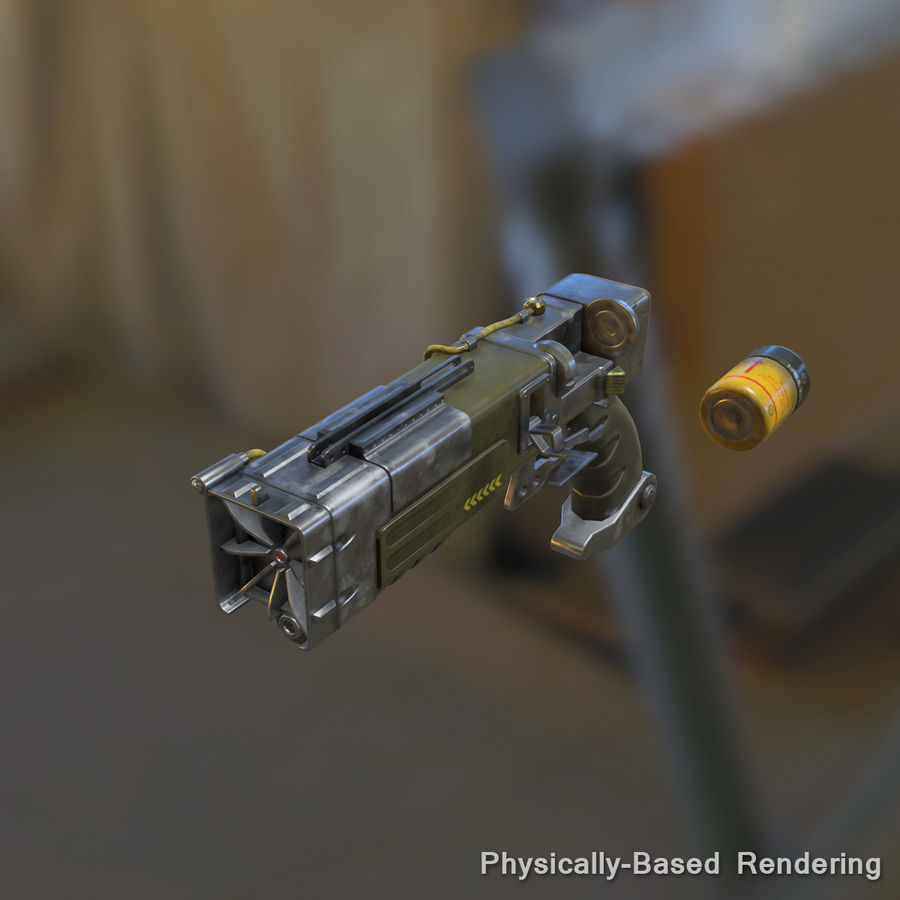 Laser Pistol royalty-free 3d model - Preview no. 14