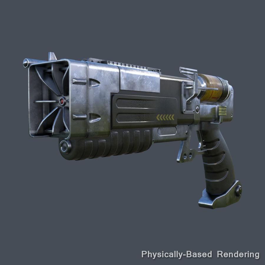 Laser Pistol royalty-free 3d model - Preview no. 9