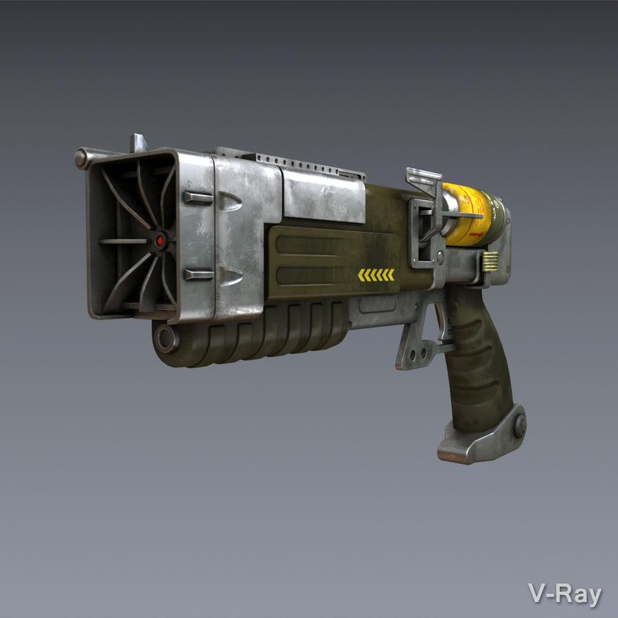 Laser Pistol royalty-free 3d model - Preview no. 4