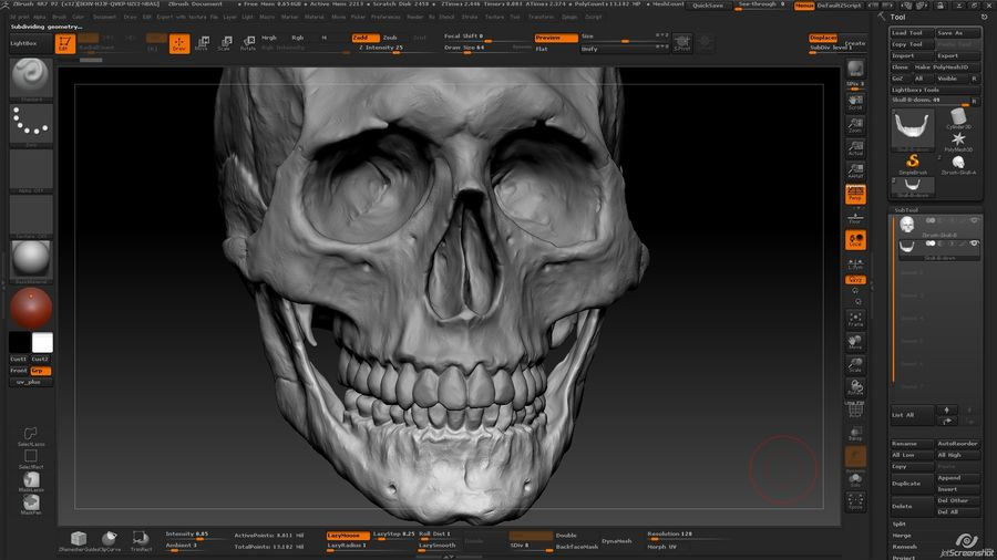 Skull advanced royalty-free 3d model - Preview no. 10