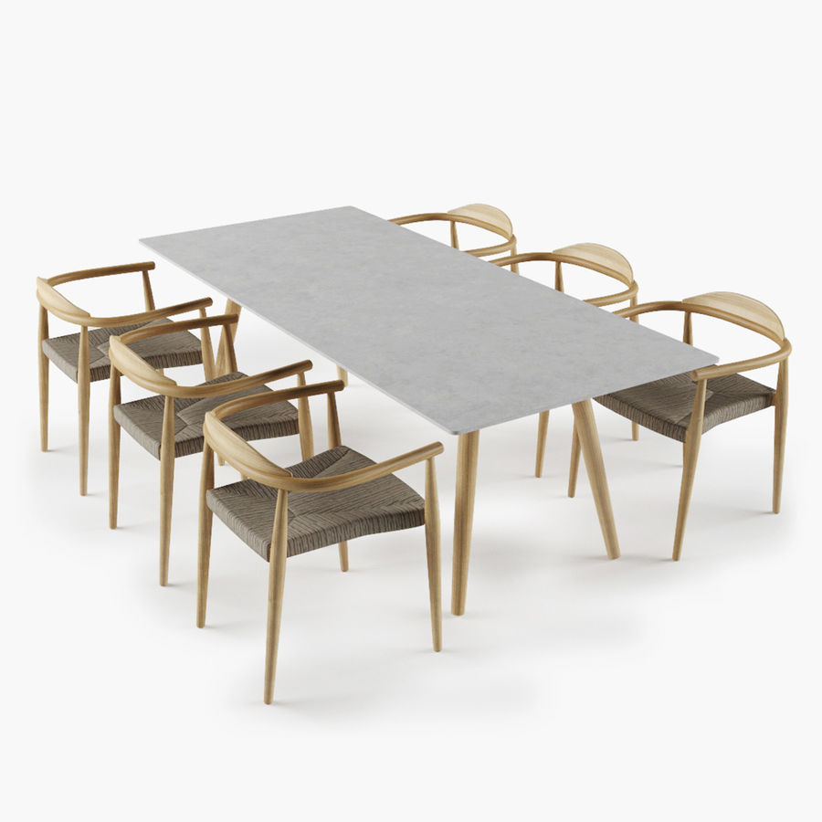 Dansk Table Chair Set 3d Model 22 Obj Max Fbx Free3d