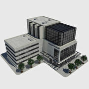 Modern Office City Building - HD Cityscape Tile 1 3d model