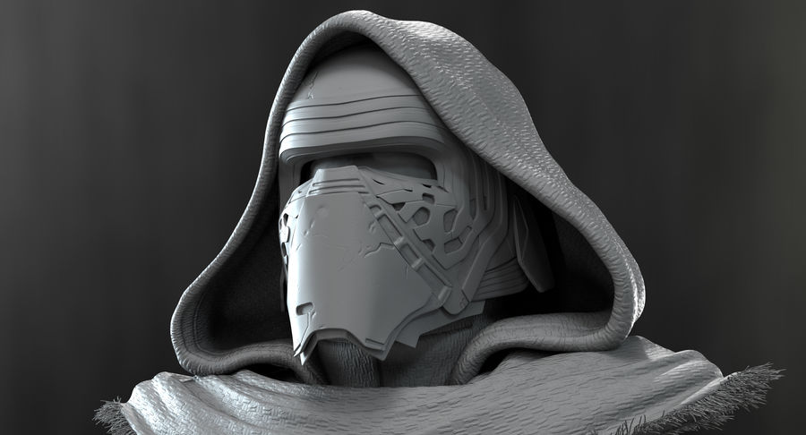 Kylo Ren - Bust royalty-free 3d model - Preview no. 20