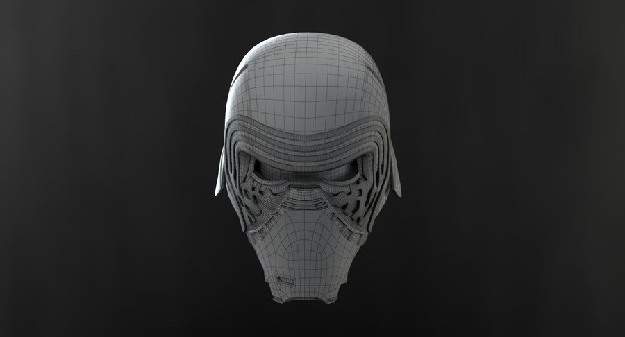 Kylo Ren - Bust royalty-free 3d model - Preview no. 17