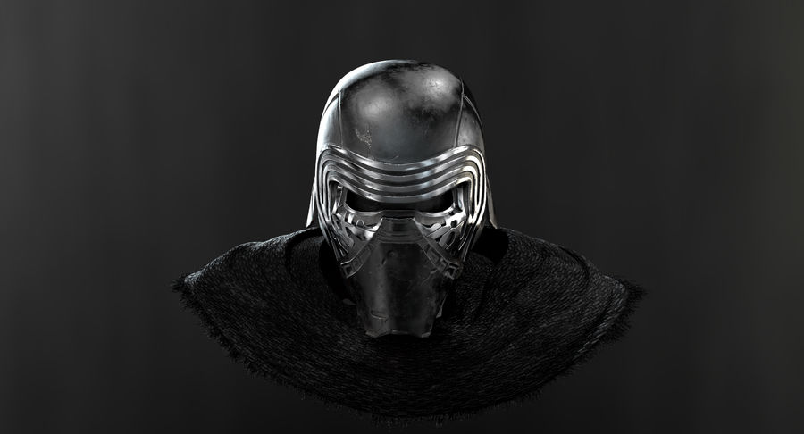Kylo Ren - busto royalty-free 3d model - Preview no. 11