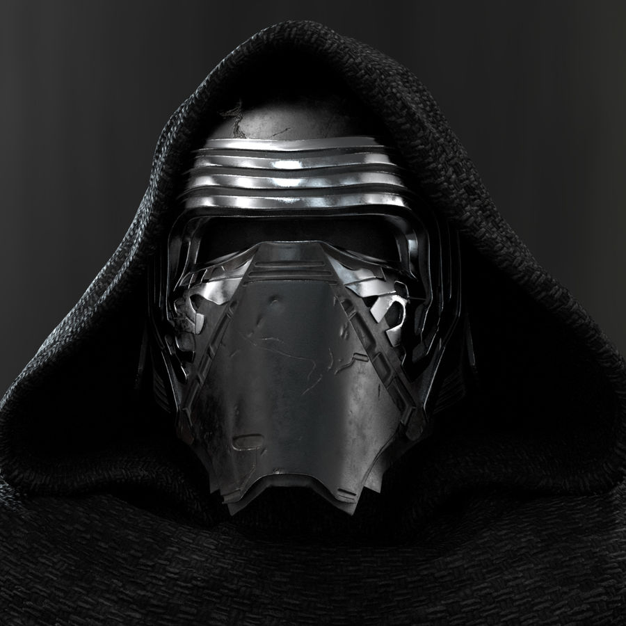 Kylo Ren - Bust royalty-free 3d model - Preview no. 1