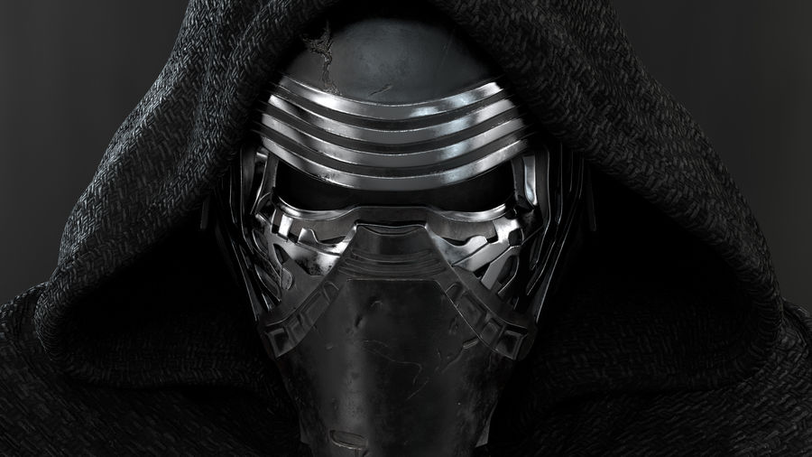 Kylo Ren - Bust royalty-free 3d model - Preview no. 5