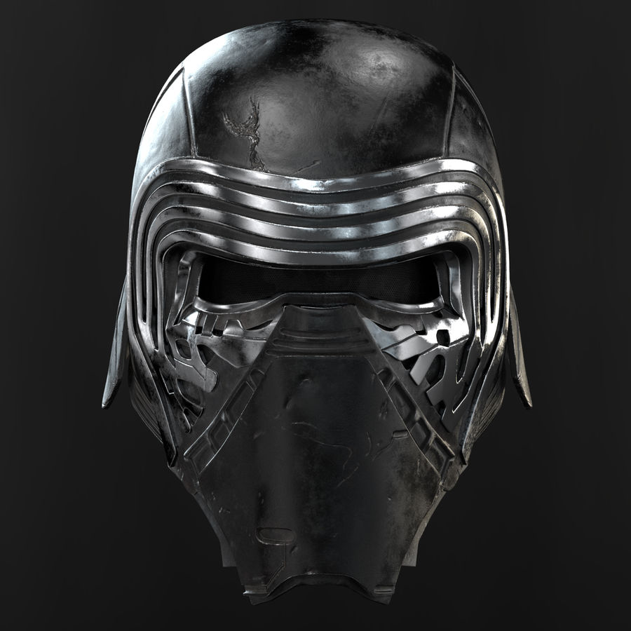 Kylo Ren - Bust royalty-free 3d model - Preview no. 7