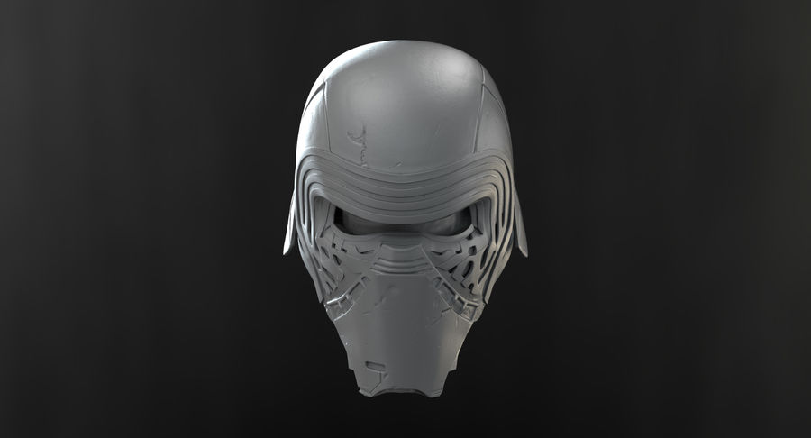 Kylo Ren - Bust royalty-free 3d model - Preview no. 13
