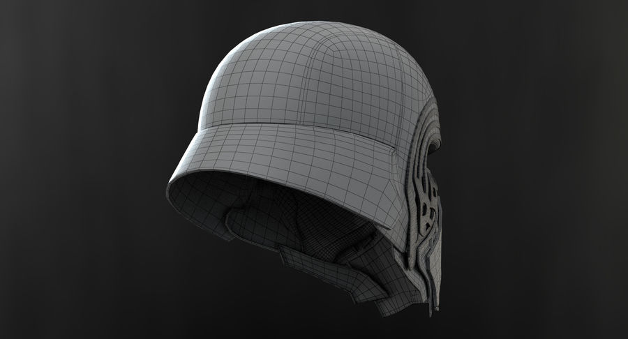Kylo Ren - Bust royalty-free 3d model - Preview no. 16