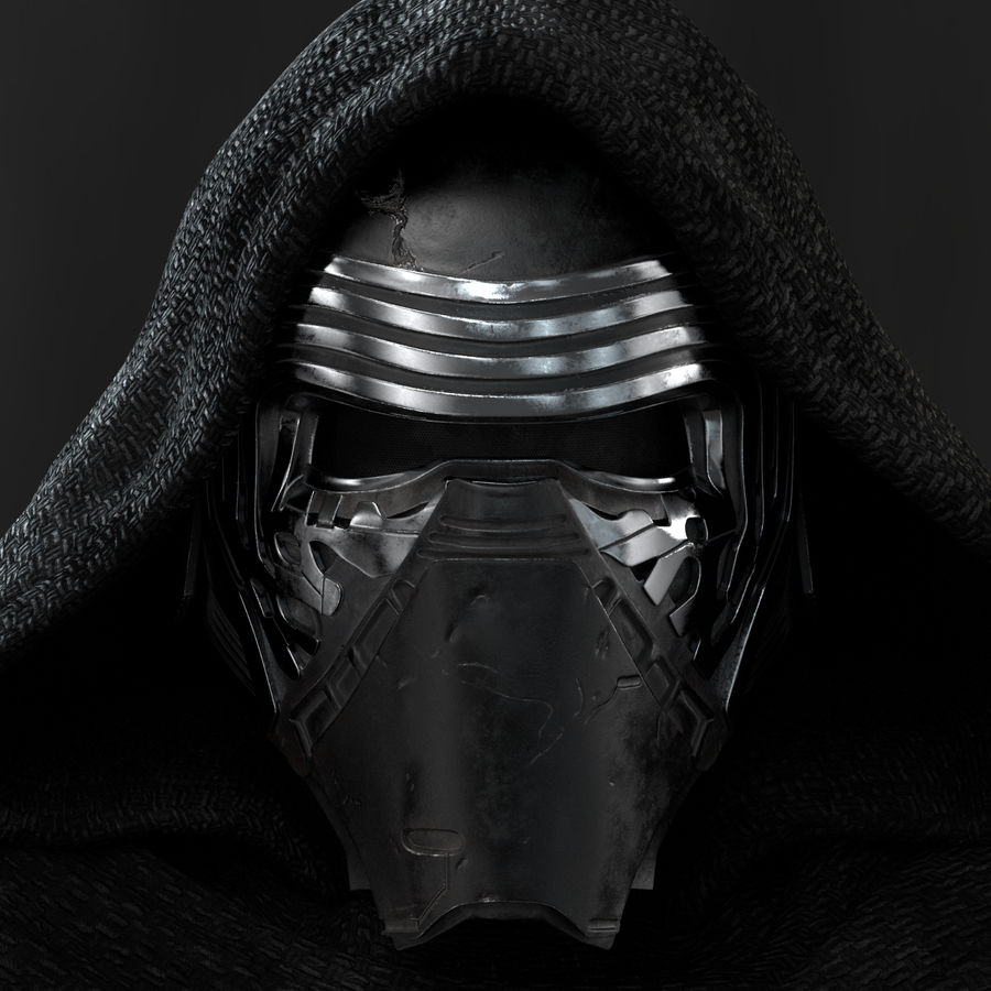 Kylo Ren - Bust royalty-free 3d model - Preview no. 8