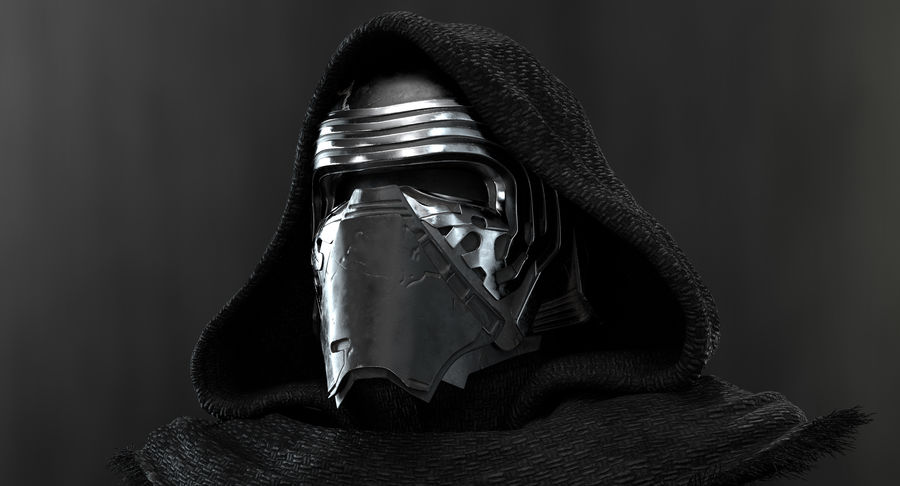 Kylo Ren - busto royalty-free 3d model - Preview no. 4