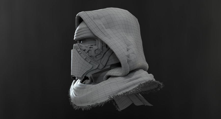 Kylo Ren - busto royalty-free 3d model - Preview no. 18