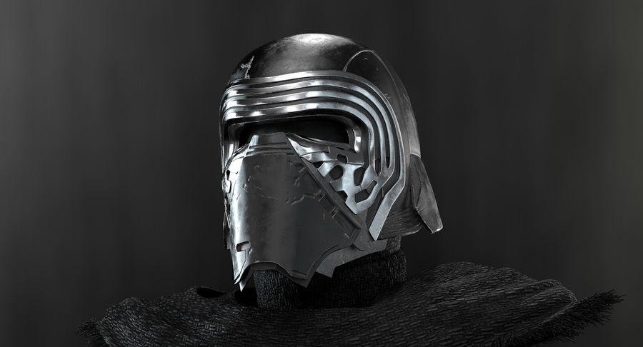 Kylo Ren - busto royalty-free 3d model - Preview no. 6