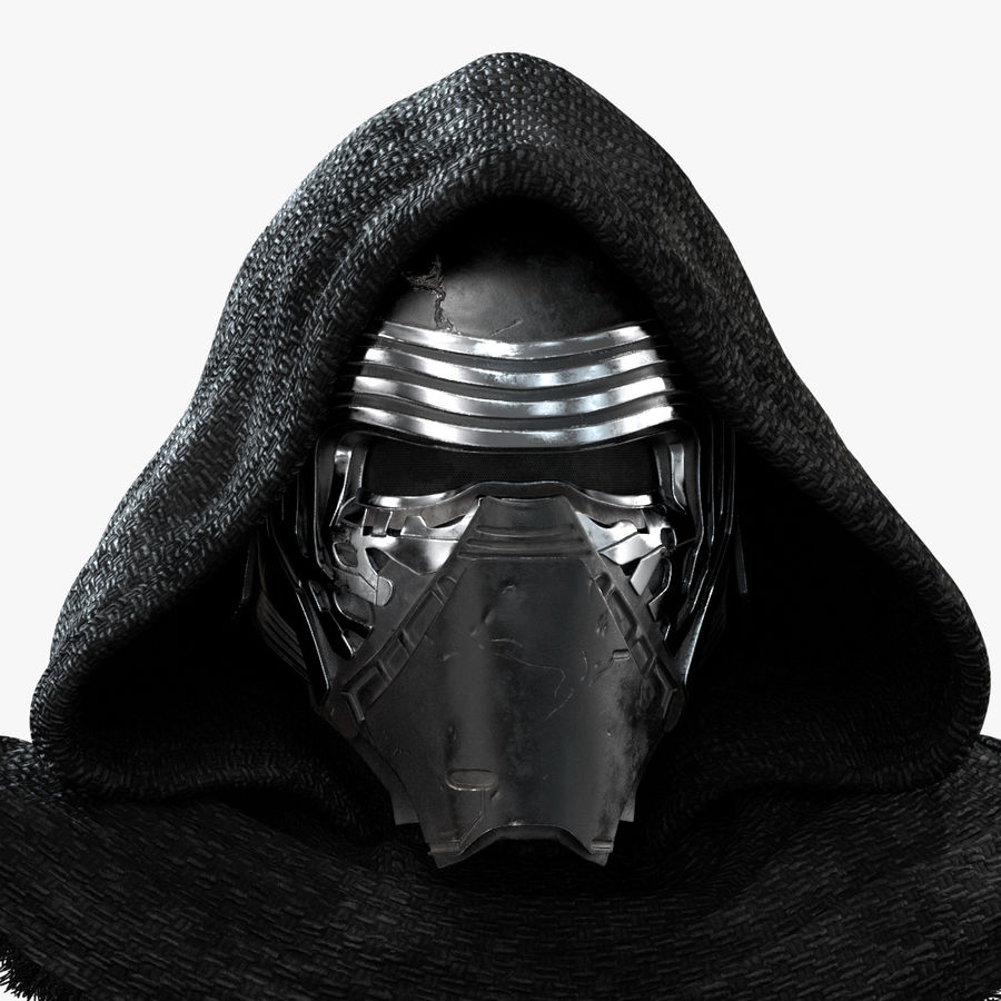Kylo Ren - Bust royalty-free 3d model - Preview no. 2