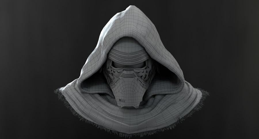 Kylo Ren - Bust royalty-free 3d model - Preview no. 14