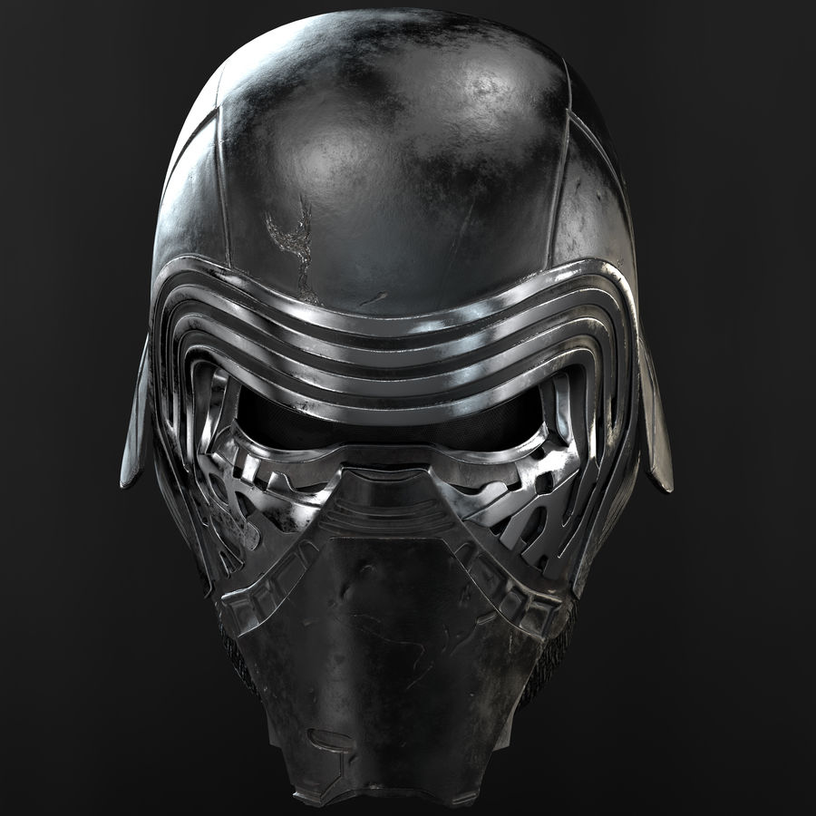 Kylo Ren - busto royalty-free 3d model - Preview no. 3