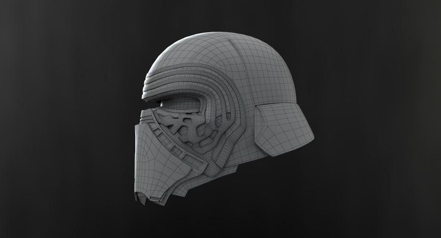 Kylo Ren - busto royalty-free 3d model - Preview no. 19