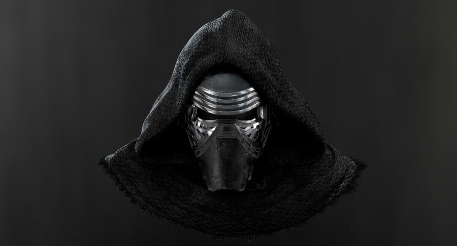 Kylo Ren - busto royalty-free 3d model - Preview no. 9