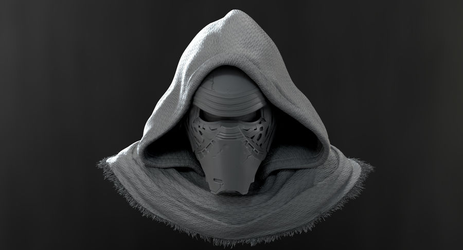 Kylo Ren - Bust royalty-free 3d model - Preview no. 12