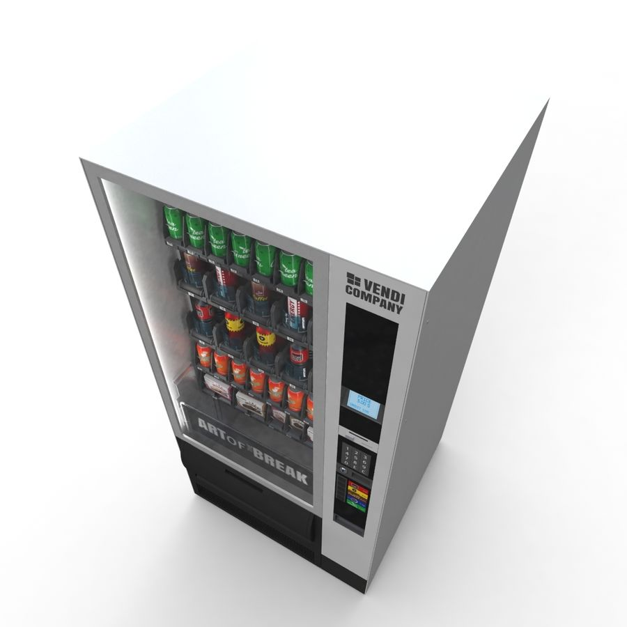 Vending Machine royalty-free 3d model - Preview no. 5