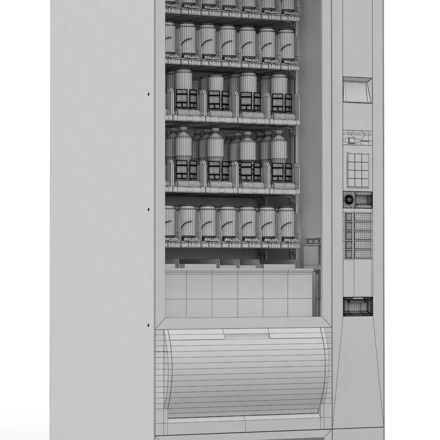 Vending Machine royalty-free 3d model - Preview no. 6