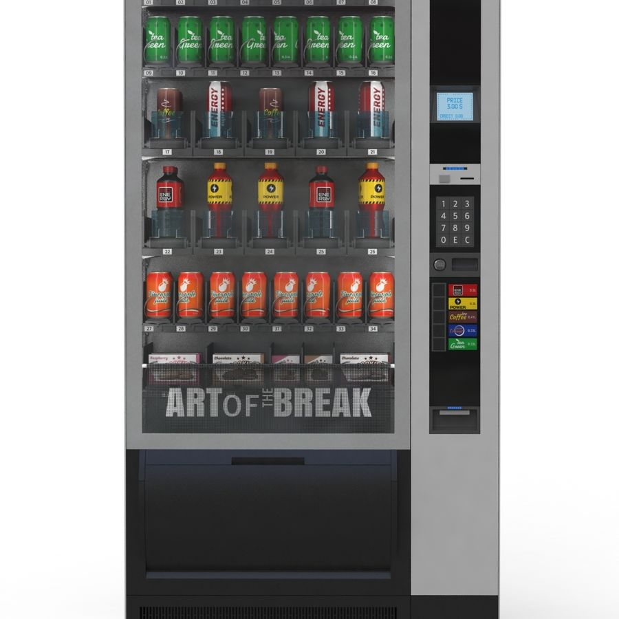 Vending Machine royalty-free 3d model - Preview no. 3