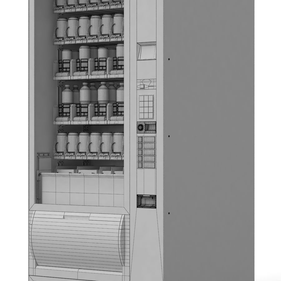 Vending Machine royalty-free 3d model - Preview no. 7
