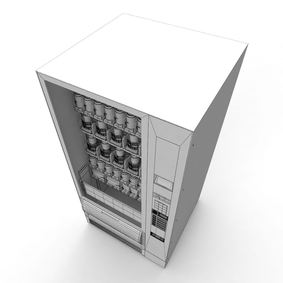 Vending Machine royalty-free 3d model - Preview no. 10