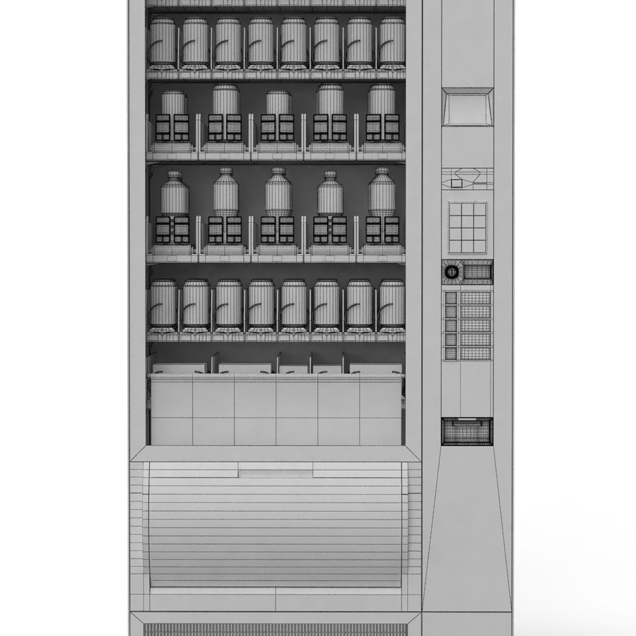 Vending Machine royalty-free 3d model - Preview no. 8