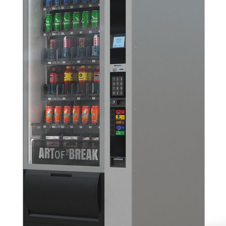 Vending Machine royalty-free 3d model - Preview no. 1