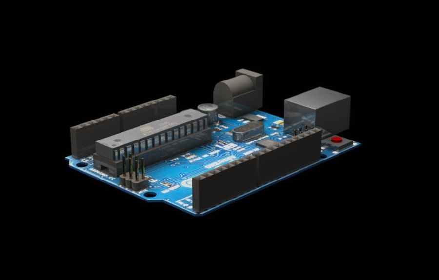 Arduino Uno royalty-free 3d model - Preview no. 7