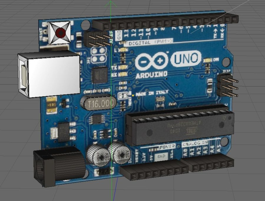 Arduino Uno royalty-free 3d model - Preview no. 4