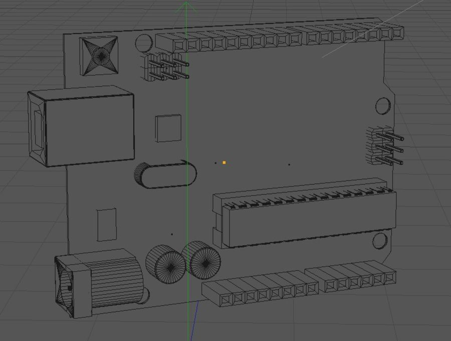 Arduino Uno royalty-free 3d model - Preview no. 2