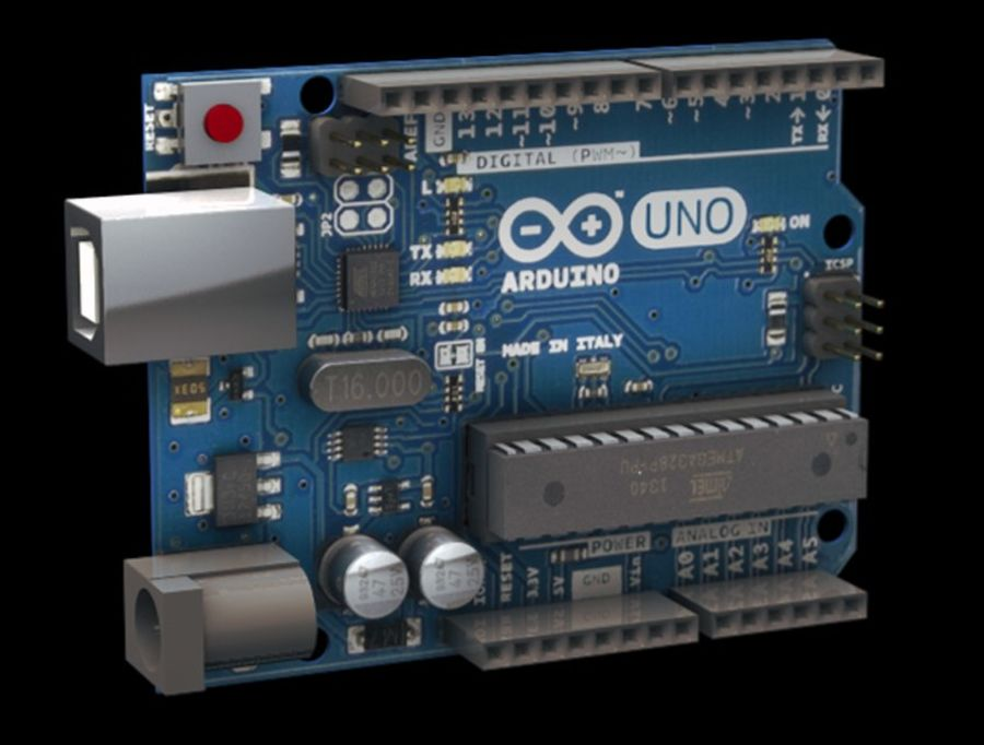 Arduino Uno royalty-free 3d model - Preview no. 1