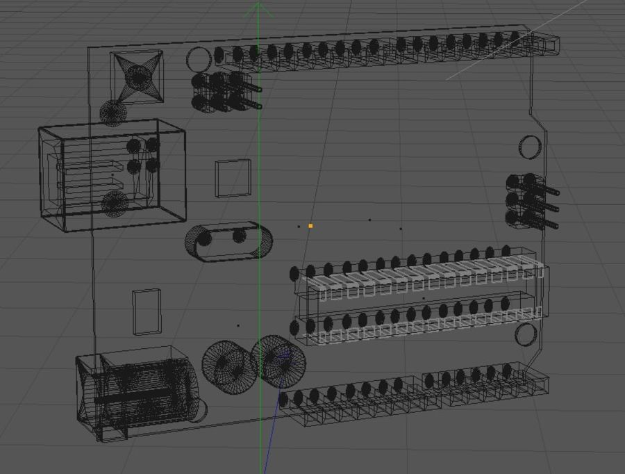 Arduino Uno royalty-free 3d model - Preview no. 3