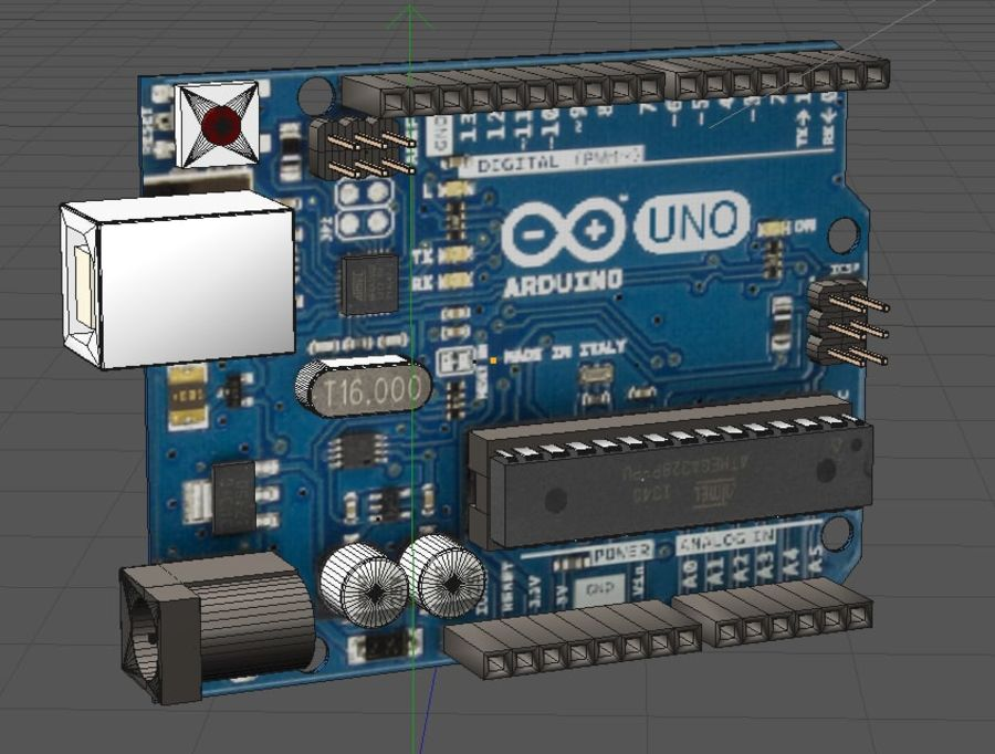 Arduino Uno royalty-free 3d model - Preview no. 6