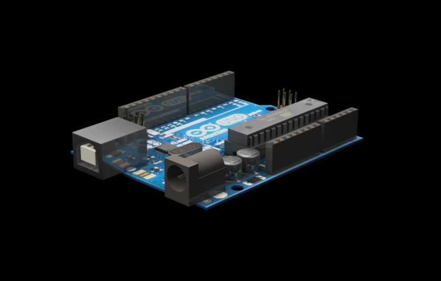 Arduino Uno royalty-free 3d model - Preview no. 5