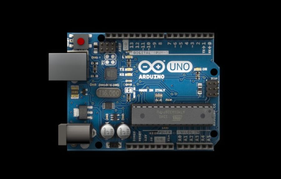Arduino Uno royalty-free 3d model - Preview no. 10