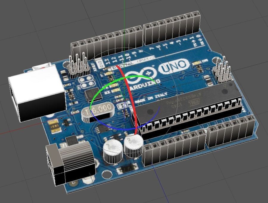 Arduino Uno royalty-free 3d model - Preview no. 8
