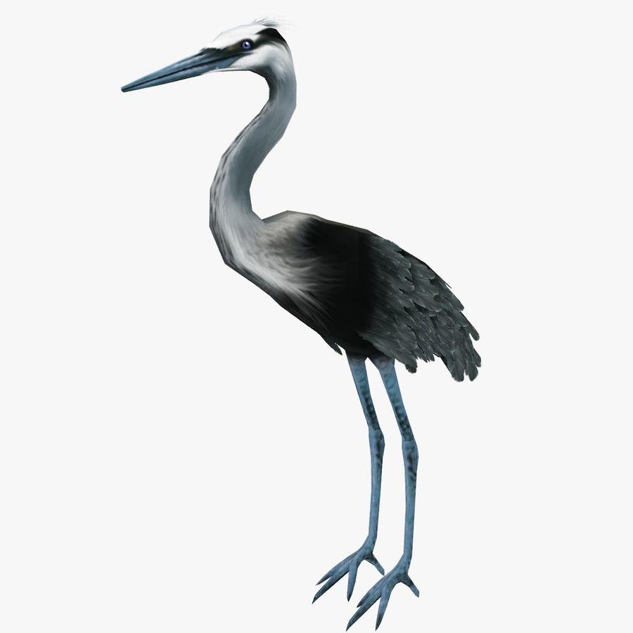 Heron royalty-free 3d model - Preview no. 1