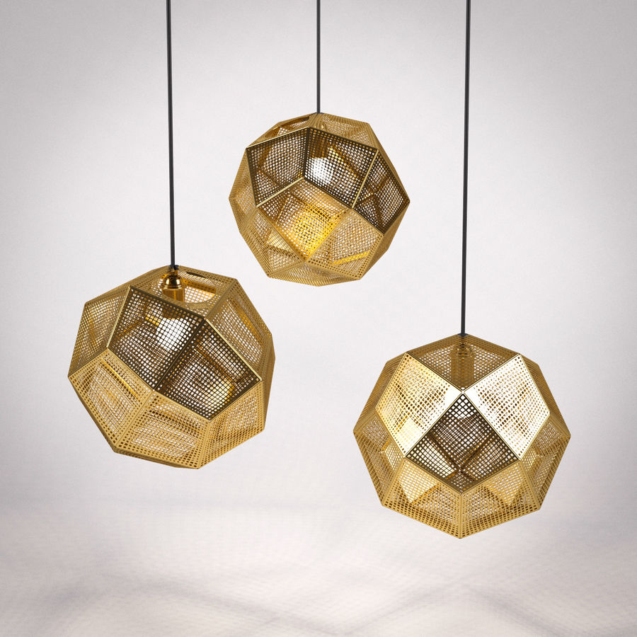 Tom Dixon Etch Shade Brass royalty-free 3d model - Preview no. 1