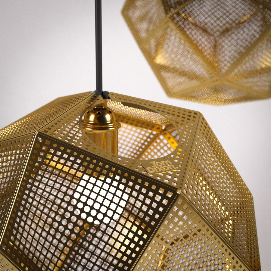 Tom Dixon Etch Shade Brass royalty-free 3d model - Preview no. 3