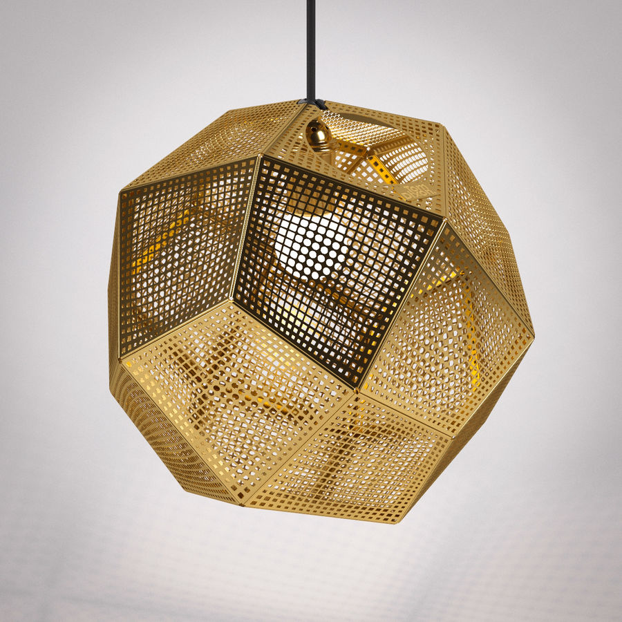 Tom Dixon Etch Shade Brass royalty-free 3d model - Preview no. 4