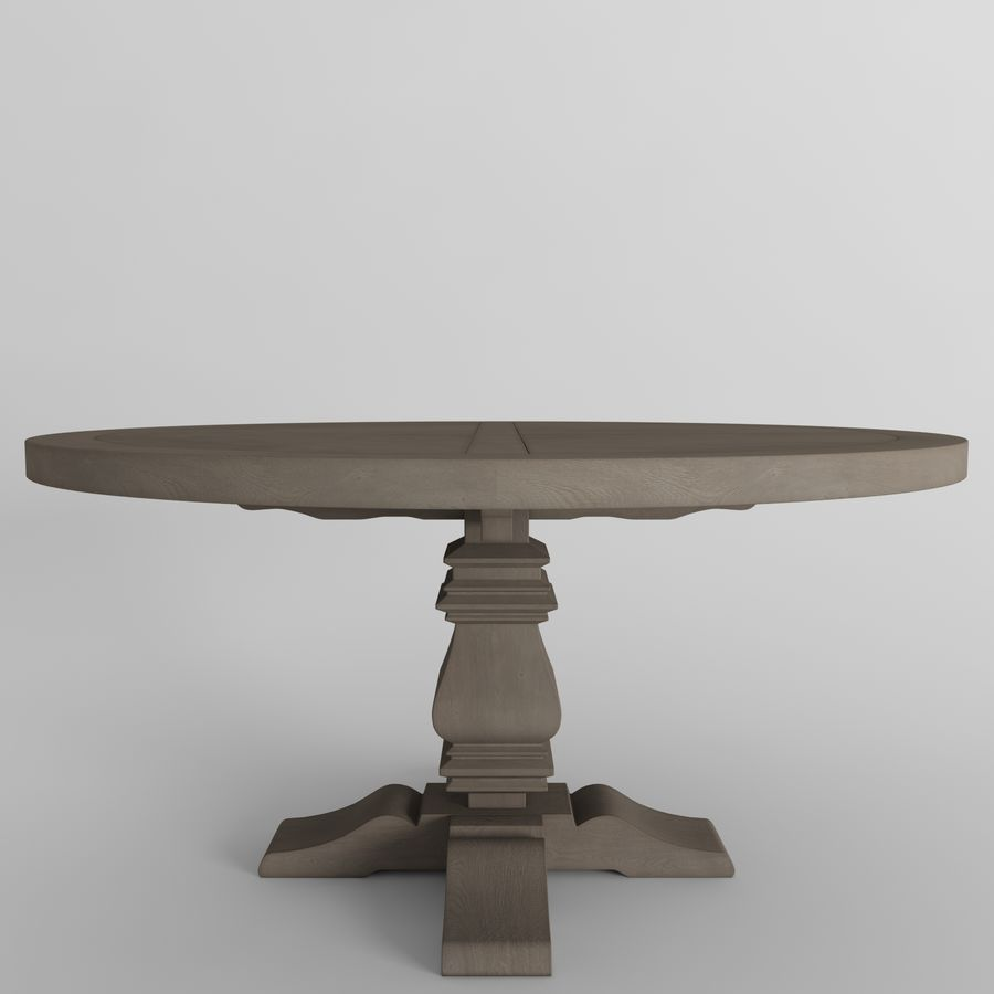 Salvaged Wood Trestle Round Dining Table 3d Model 12 Fbx Max Free3d