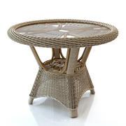 Круглый стол из ротанга 3d model