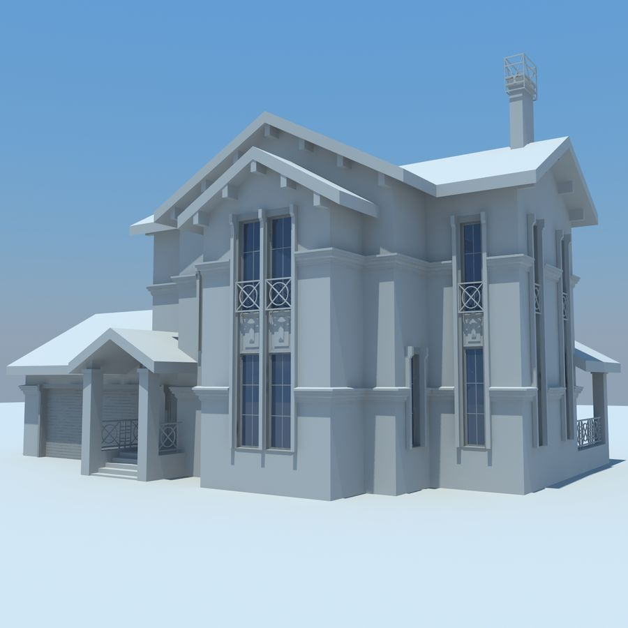 House cottage royalty-free 3d model - Preview no. 1