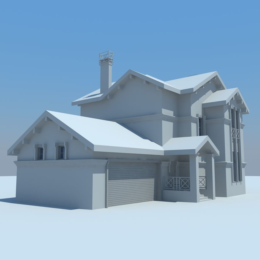 House cottage royalty-free 3d model - Preview no. 6